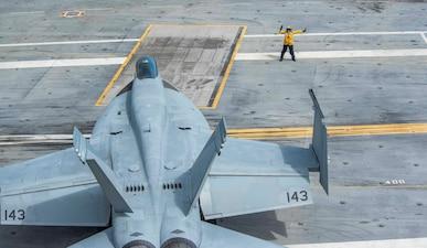USS George H.W. Bush (CVN 77) conducts flight deck certifications in the Atlantic Ocean.