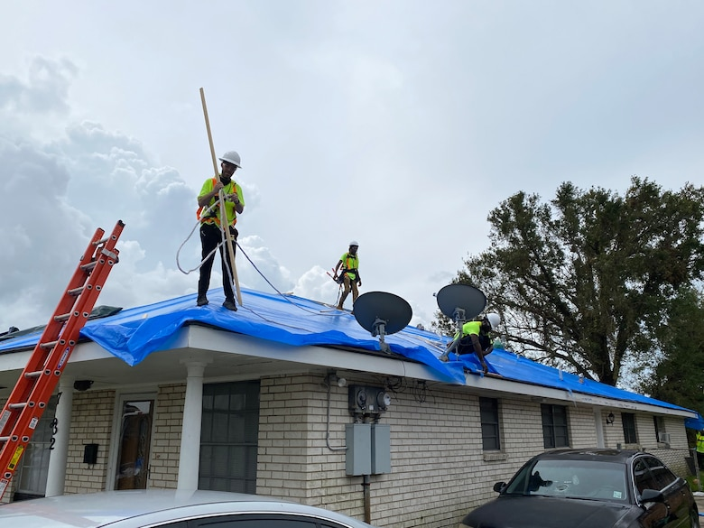 The U.S. Army Corps of Engineers is announcing the installation of the first Blue Roof in Orleans Parish, Sept. 8.