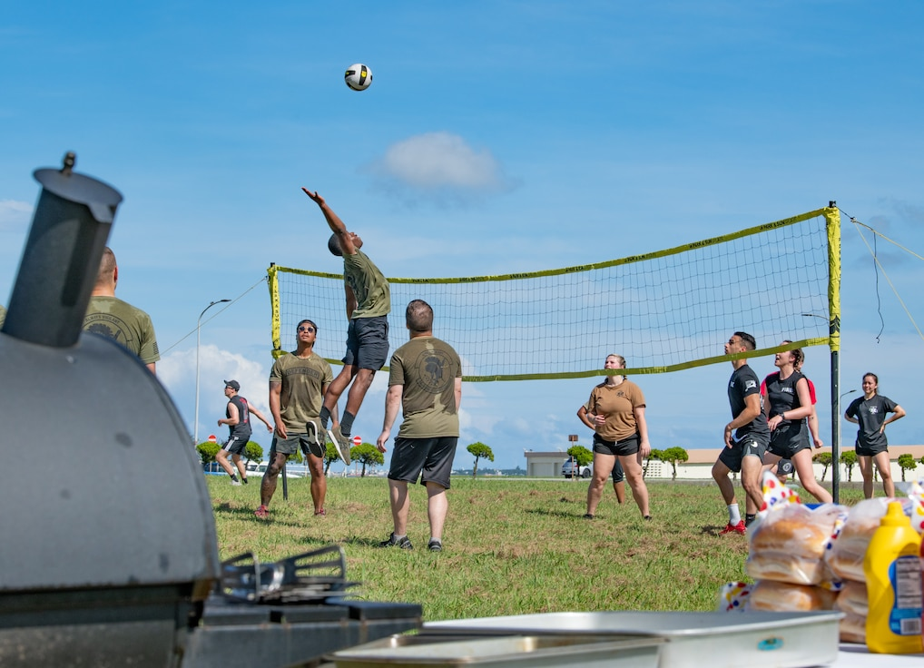 Kadena's first responders compete in Battle of the Badges games.