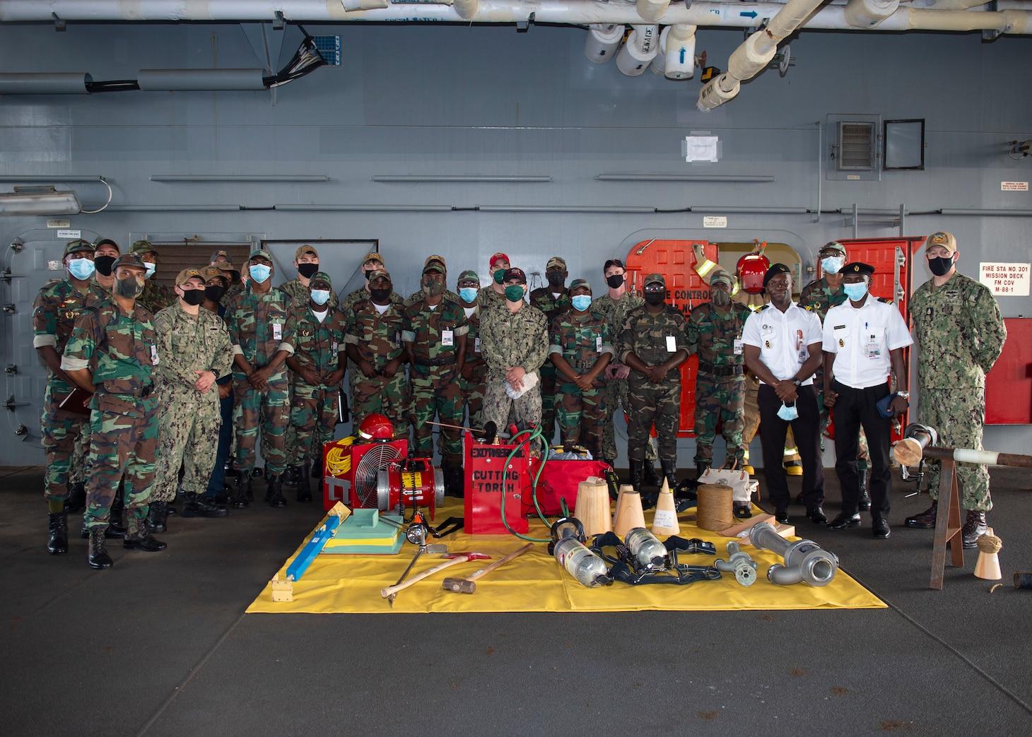 "USS Hershel ""Woody"" Williams Arrives in Angola"