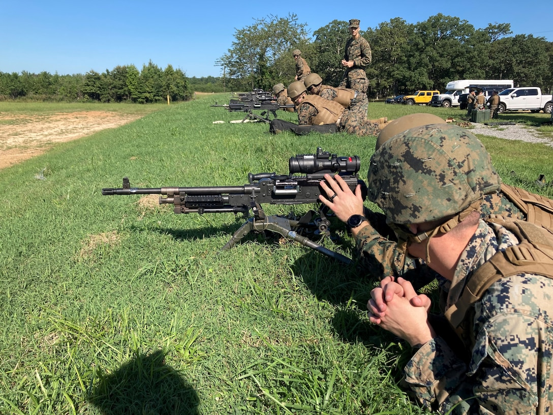Headquarters Battalion conducted live fire unknown distance training for small arms and light to medium machine guns to hone their skills and ensure that they are always ready for the fight to come.