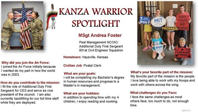 September 2021 Kanza Warrior Spotlight