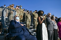 Military members, distinguished visitors and civic leaders paid respect to 9/11 victims at a Remembrance Ceremony at Joint Base Andrews, Md., on Sept. 10, 2021.