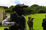 An Indian Navy sailor secures a perimeter alongside U.S. and Japanese forces during an urban combat training scenario as part of MALABAR 2021. MALABAR 2021 is an example of the enduring partnership between Australian, Indian, Japanese and American maritime forces, who routinely operate together in the Indo-Pacific, fostering a cooperative approach toward regional security and stability. NSW is the nation's premiere maritime special operations force and is uniquely positioned to extend the Fleet's reach and deliver all-domain options for naval and joint force commanders.