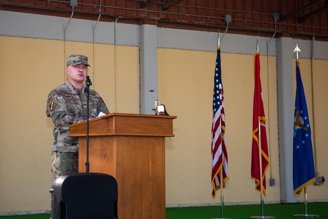 military commander speaking