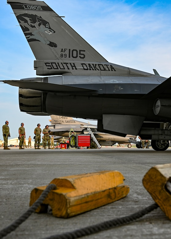 The 114th Fighter Wing conducted a Readiness Exercise designed to test the Wing's ability to stand up an Aerospace Control Alert facility with short notice, at Joe Foss Field on Aug. 4, 2021.