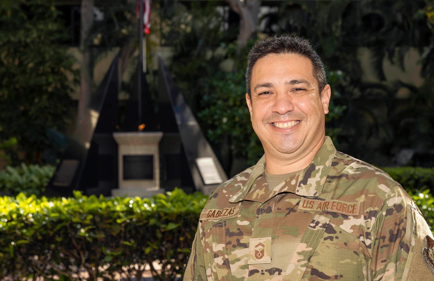 Photo of U.S. Air Force Senior Master Sgt. Ricardo Cabezas