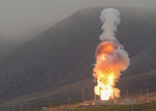 A Ground-based Interceptor missile, an element of the nation's Ground-based Midcourse Defense system, was launched from North Vandenberg today at 10:30 a.m. Pacific Time by Space Launch Delta 30 officials, the U.S. Missile Defense Agency, and U.S. Northern Command.