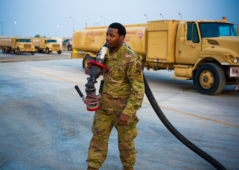 During their deployment rotation, the 380th Expeditionary Logistics Readiness Squadron Fuels Flight oversaw the throughput of 86.5 million gallons, maintaining the Department of Defense's largest tactical fuel site.