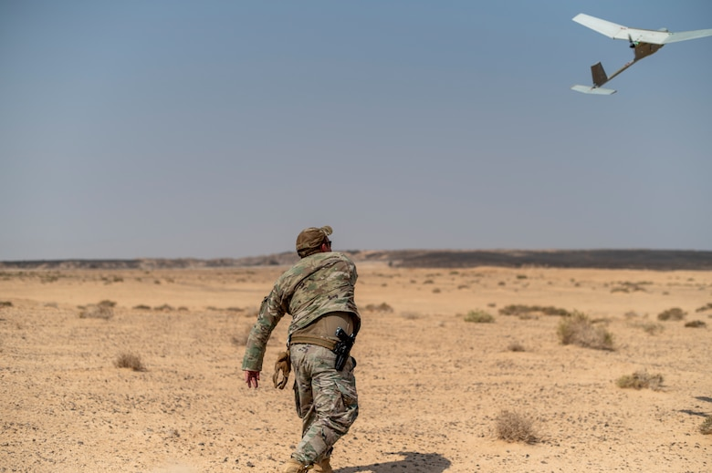 The joint exercise allowed multiple agencies to join forces to strengthen and refine Counter-Small Unmanned Aerial Systems tactics, techniques and procedures. (U.S. Air Force photo by Senior Airman Karla Parra)
