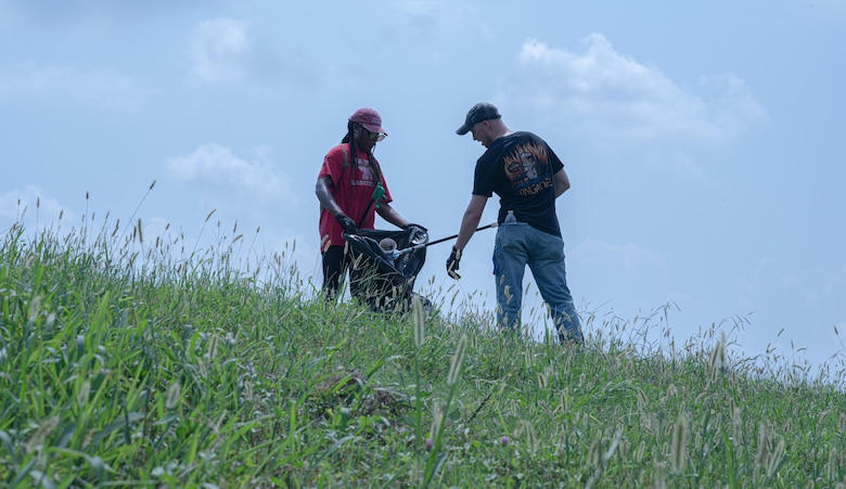 Bayou Clean-up is a volunteer opportunity for members of the 2nd BW to pick up litter on Barksdale AFB.