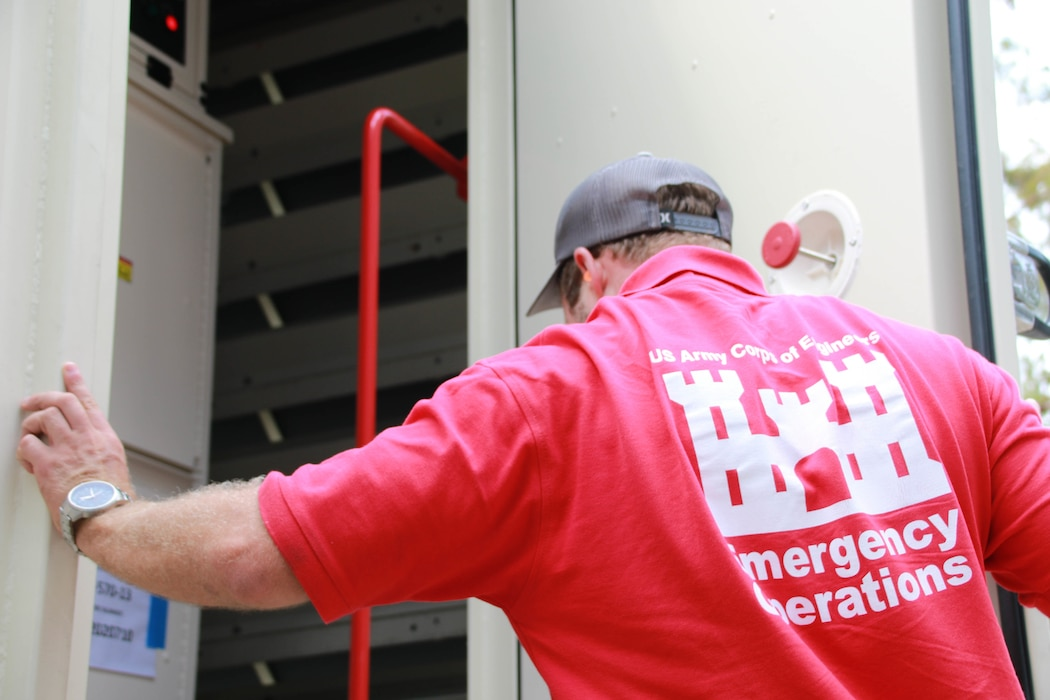 Michael Maaninen from Honolulu District, support the Federal Emergency Management Agency (FEMA) assigned Temporary Emergency Power Mission as part of the U.S. Army Corps of Engineers Hurricane Recovery mission in southeastern Louisiana.