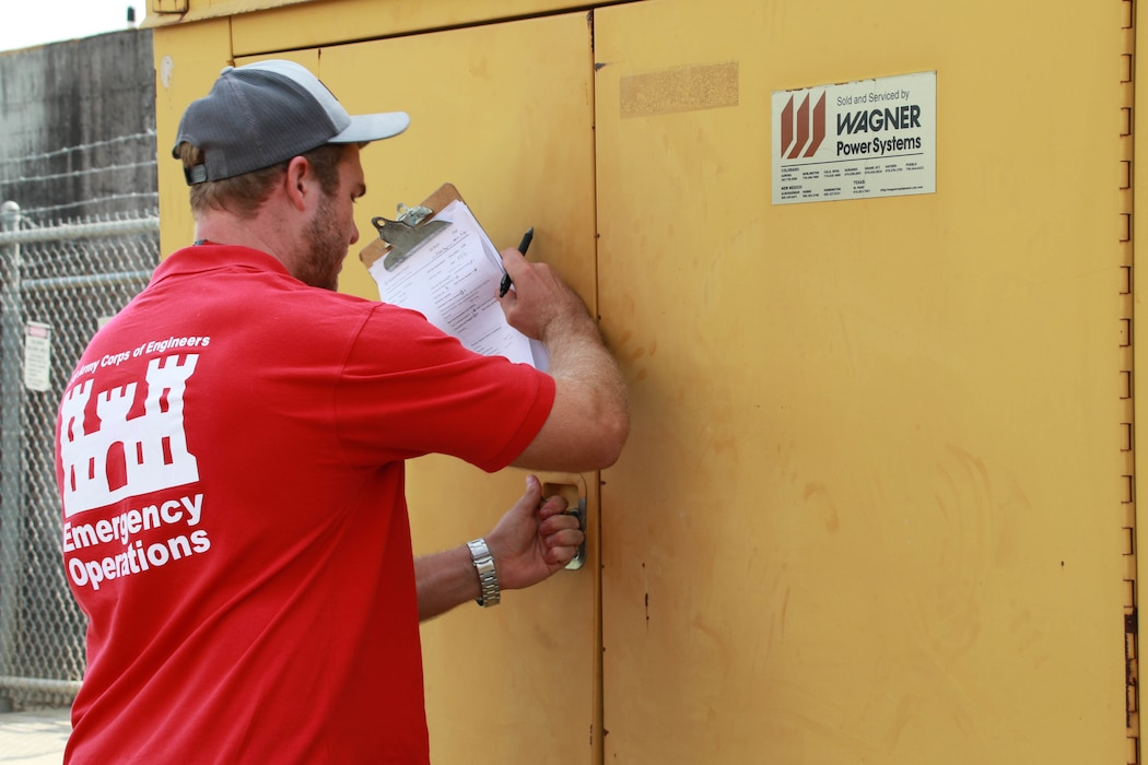 Michael Maaninen, from Honolulu District, support the Federal Emergency Management Agency (FEMA) assigned Temporary Emergency Power Mission as part of the U.S. Army Corps of Engineers Hurricane Recovery mission in southeastern Louisiana.