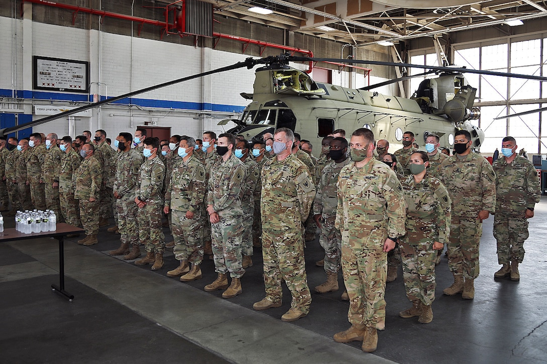 Kansas City area Army Reserve aviation hangar dedicated to fallen Soldier