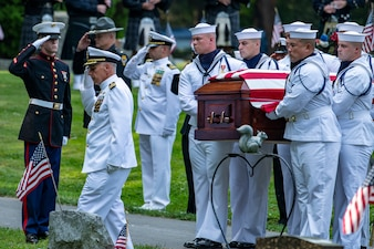 Hospital Corpsman 3rd Class Maxton W. Soviak is laid to rest Sept. 13, 2021.