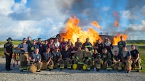 Joint fire training heats up on Andersen