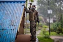 Marines with Task Force Koa Moana 21 Repair Local School