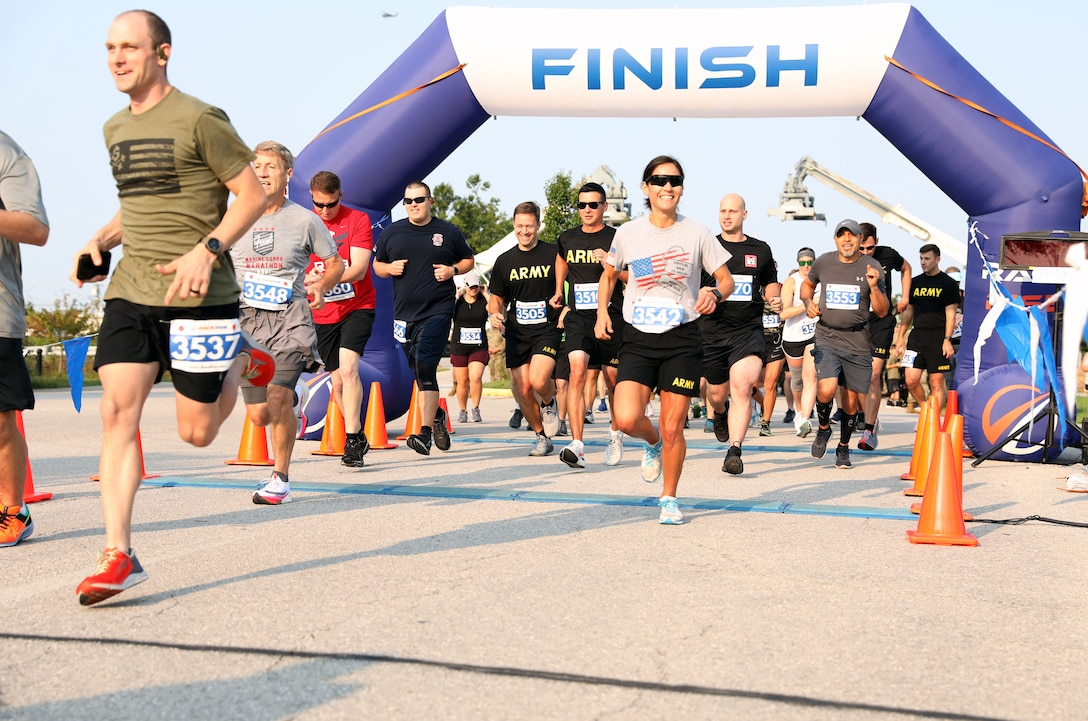 About 200 runners, walkers and ruck marchers took part in the Army 10-Miler at Bluegrass Army Depot, hosted by the 149th Maneuver Enhancement Brigade Sept. 12, 2021.