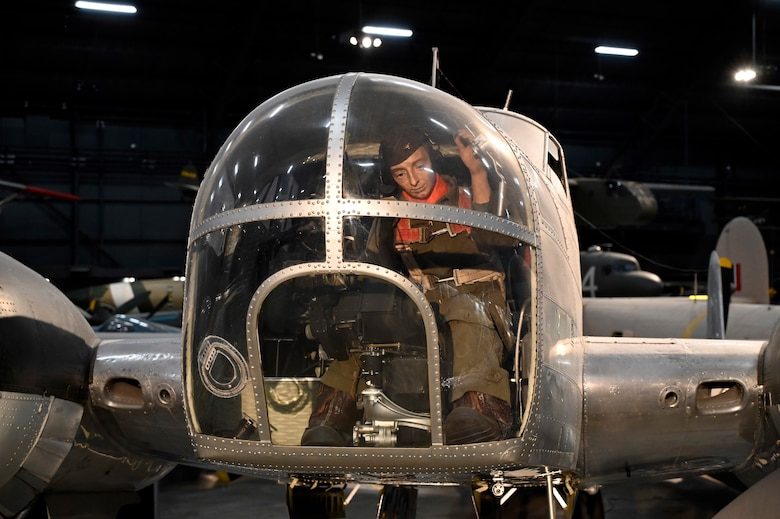 Beech AT-11 Kansan in the World War II Gallery at the National Museum of the United States Air Force.