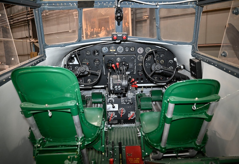 Interior views of the Douglas B-18 Bolo bomber on display at the National Museum of the U.S. Air Force in the World War II Gallery.