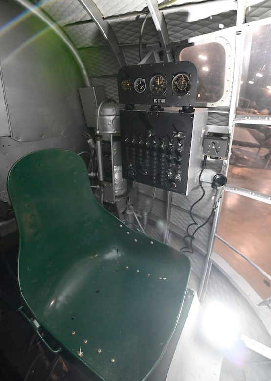 Interior views of the Douglas B-18 Bolo bomber on display at the National Museum of the U.S. Air Force