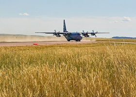 cargo aircraft taking off of runway