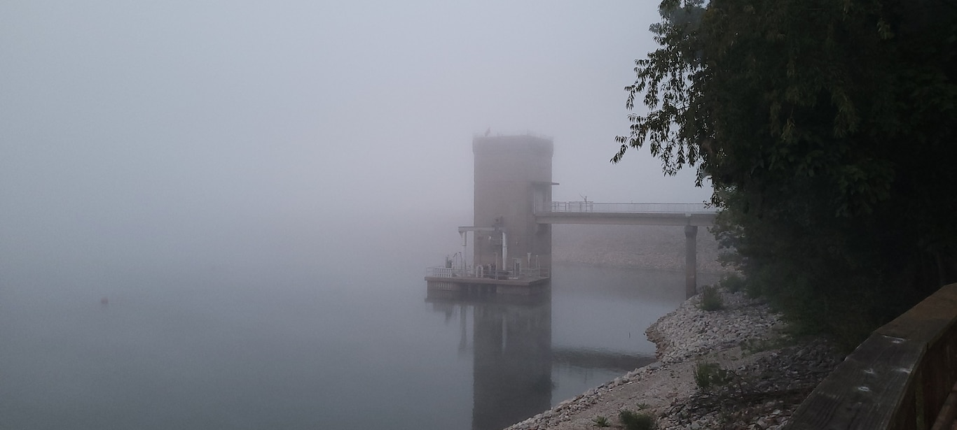 Tower Fog located at Patoka Lake on a September morning.