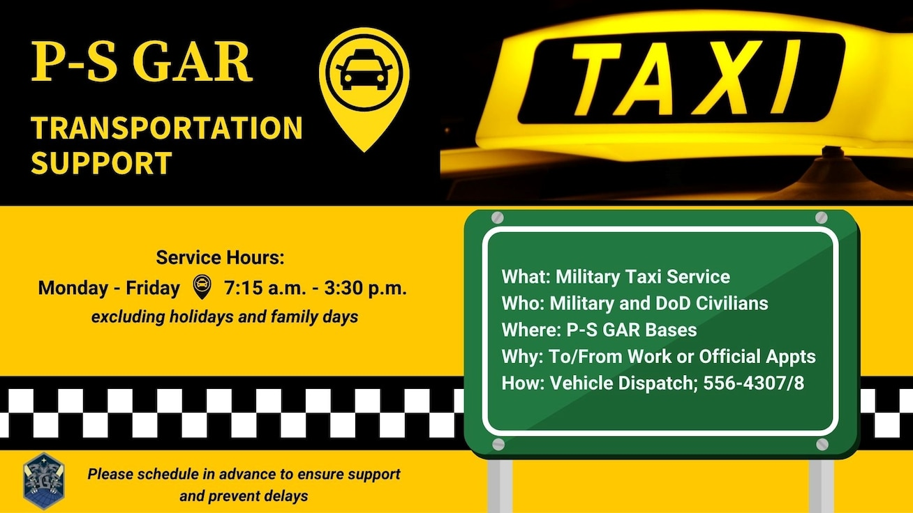 Informational graphic of new P-S GAR taxi service