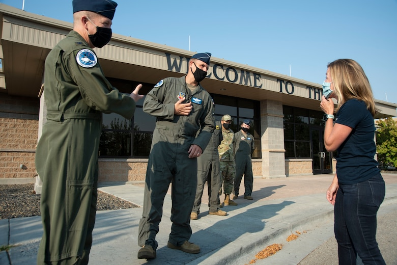 The Boise Mayor meets some of the senior leaders of Mountain Home Air Force Base.