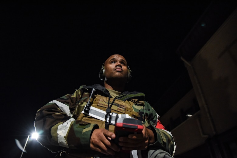 Master Sgt. Ismail Muhammad, 51st Fighter Wing Inspector General, prepares to evaluate Airmen during a training event