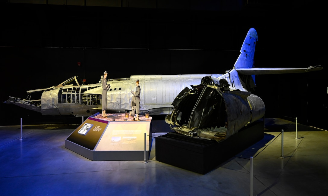 Lockheed XF-90 on display in the National Museum of the U.S. Air Force Cold War Gallery..