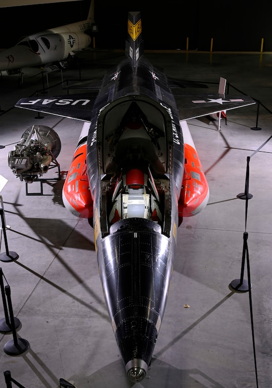 North American X-15A-2 on display in the National Museum of the U.S. Air Force Space Gallery.