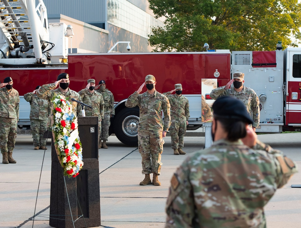 Wreath laying commemorating the 20th anniversary of 9/11