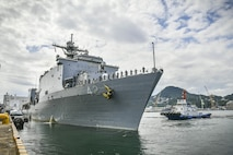 USS Germantown completes forward-deployment to Japan, sails for San Diego