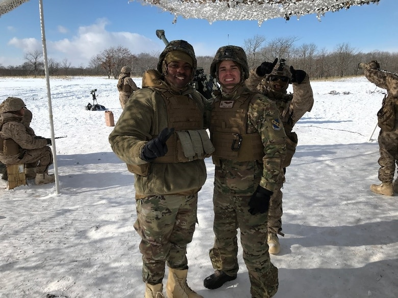 Language Enabled Airman Program Scholars Technical Sergeant Eric Johnson and Captain Matthew Fryer are two of the many service members who have built partnerships and interoperability through Training Partnerships. Fryer and Johnson applied their advanced Japanese language skills during Northern Viper 2020, an exercise that involved the United States Marine Corps 4th Marine Regiment and the Japan Ground Self-Defense Force.