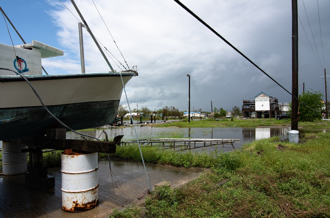 Homes along Highway 55 in Montegut, La., received significant damage from Hurricane Ida and tornadoes.