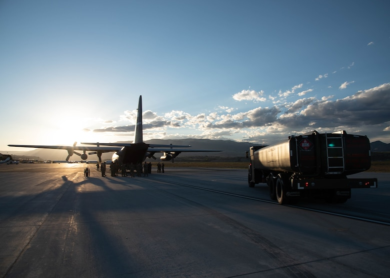 Active-duty Air Force, Air National Guard and Reserve Citizen Airmen who are fuel technicians and work in Logistics Readiness Squadrons, train on wet-wing defueling to offload fuel from a C-130J Super Hercules from the 403rd Wing, Keesler Air Force Base, Mississippi, Sept. 15, 2021, to a refueler truck. The Airmen gathered at Rifle-Garfield County Airport, Rifle, Colorado to take part in the 22nd Air Force's flagship exercise Rally in the Rockies Sept. 12-17, 2021. The exercise is designed to develop Airmen for combat operations by challenging them with realistic scenarios that support a full spectrum of operations during military actions, operations or hostile environments.