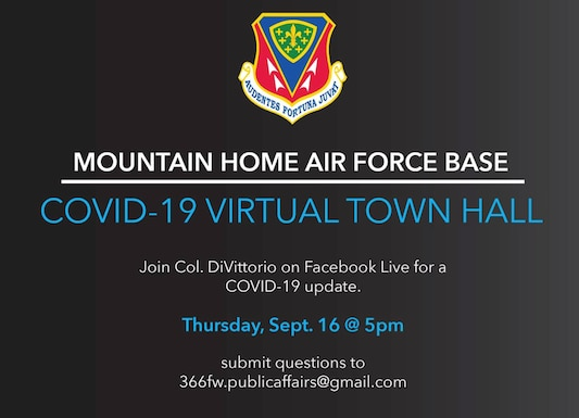 Col. DiVittorio 366 Fighter Wing Commander host virtual townhall