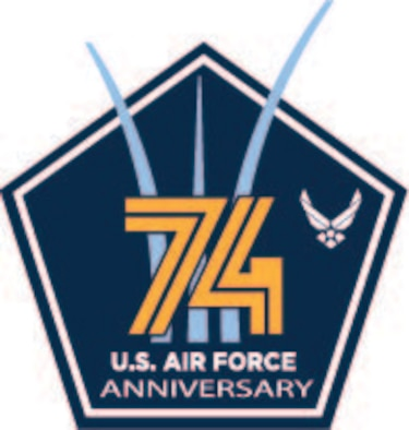 U.S. Air Force graphic commemorating USAF's 74th birthday. The U.S. Air Force was established Sept. 18, 1947. (courtesy graphic)