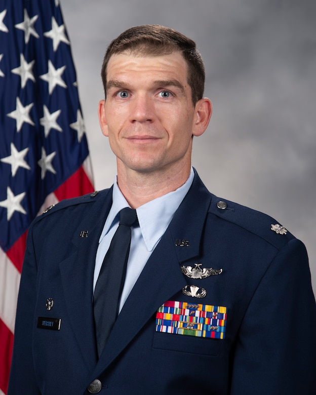 Lt. Col. Zane Hershey, 3rd Airlift Squadron commander, official photo.