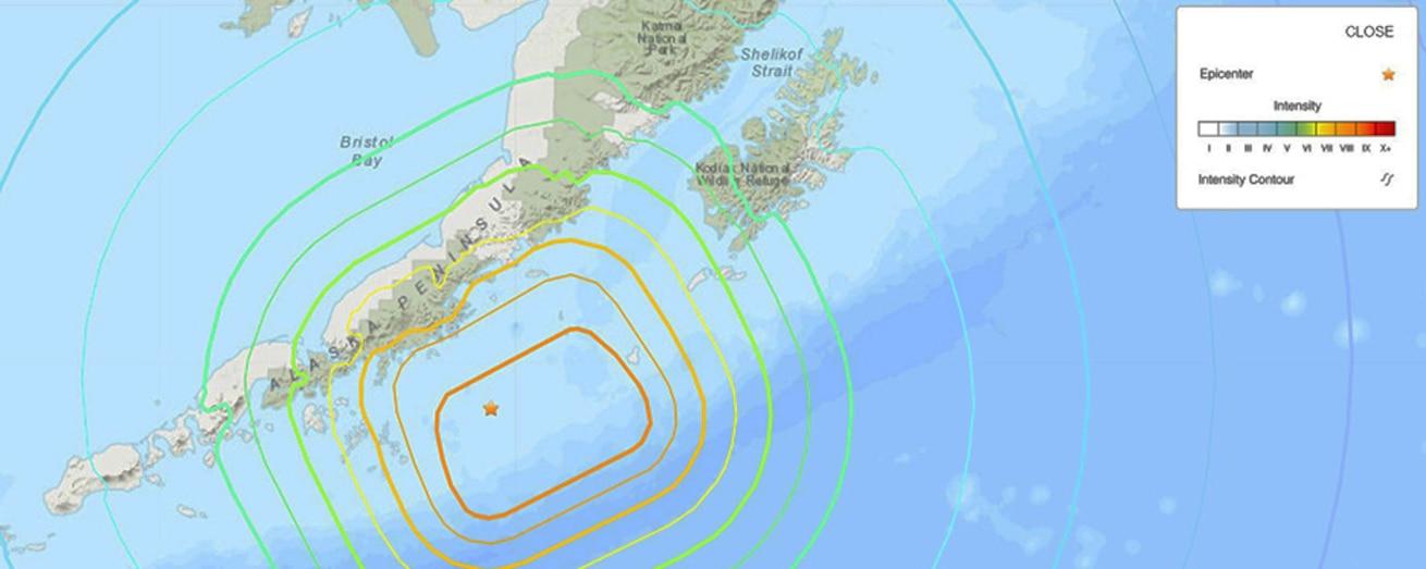 Magnitude 8.2 Earthquake in Alaska