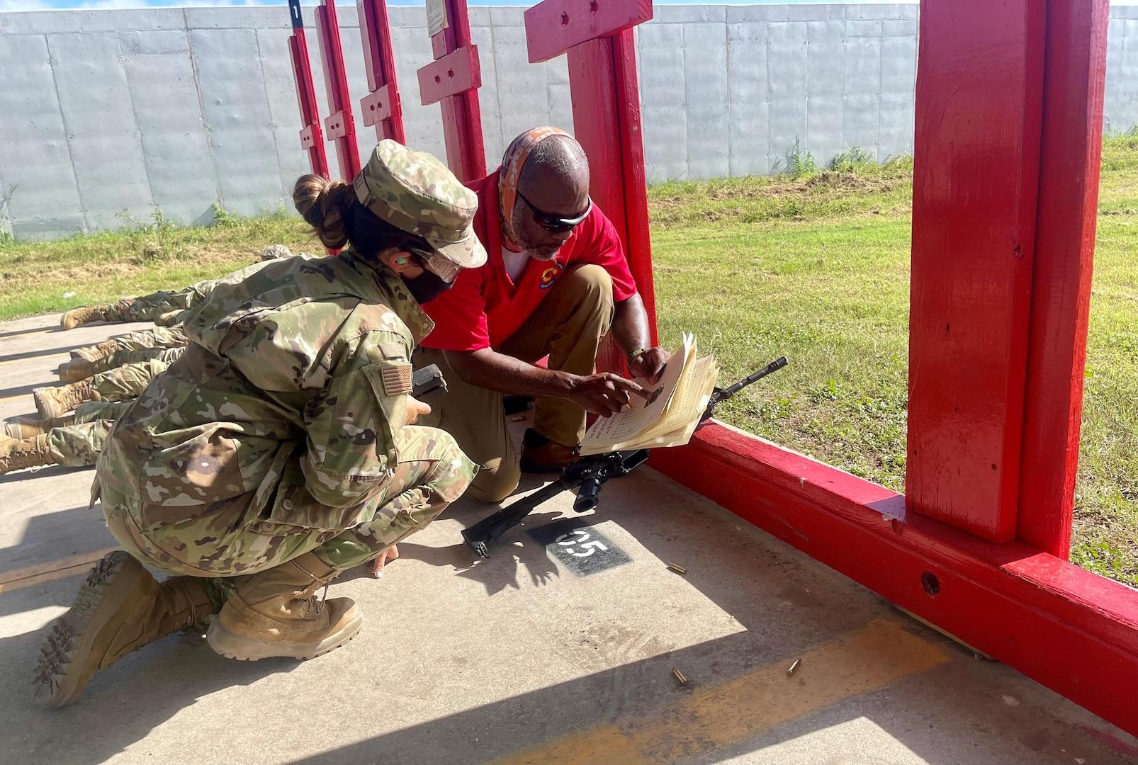 Trainee gets feedback on marksmanship
