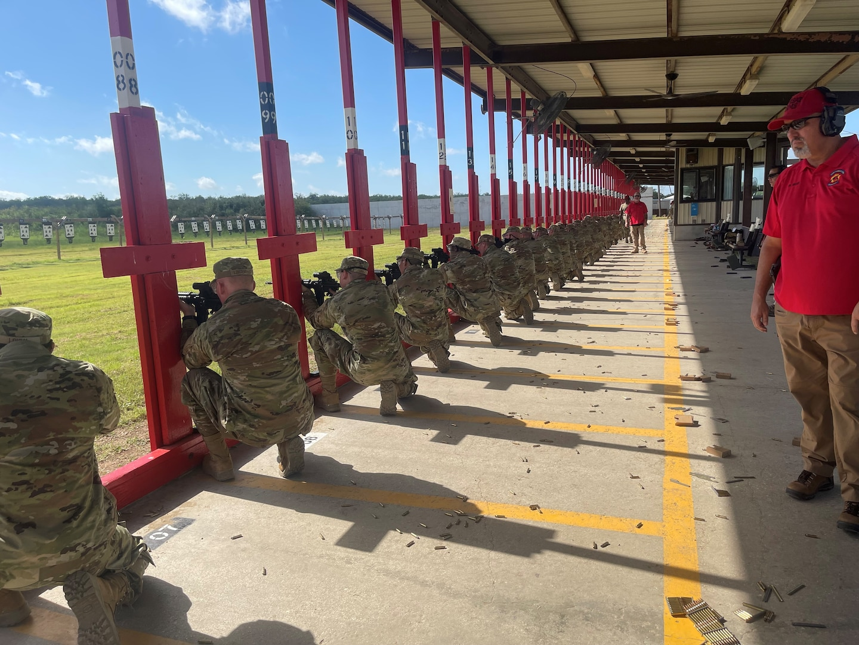 Trainees at firing range.