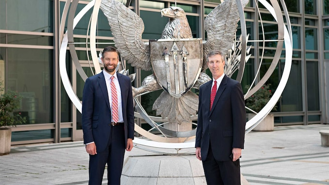 Defense Threat Reduction Agency's Acting Director Rhys Williams met with PTDO USD A&S Gregory Kausner on Sept. 13 to share an overview of DTRA's mission and core functions in the counter WMD and emerging threat mission space.