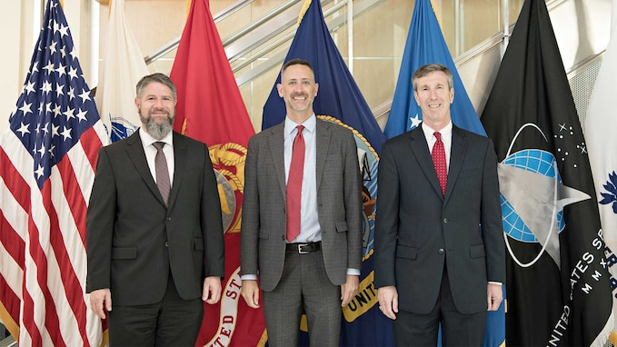 Defense Threat Reduction Agency (DTRA)'s Dr. Robert Pope and Acting Director Rhys Williams met with Deputy Assistant Security of Defense Richard Johnson on July 13