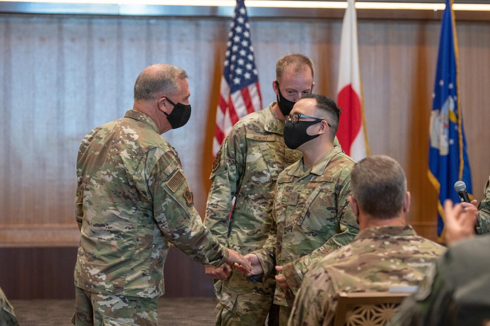 USFJ, 5th Air Force commander visits Kadena