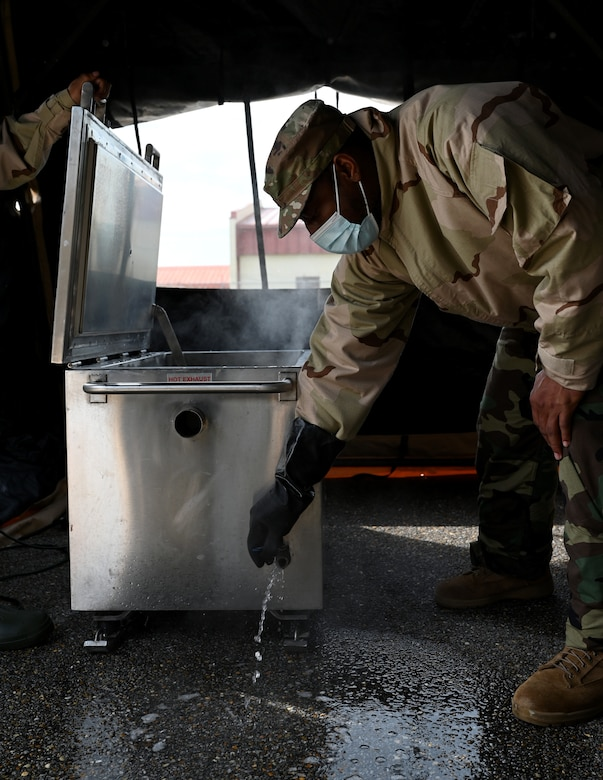 member drains water from container
