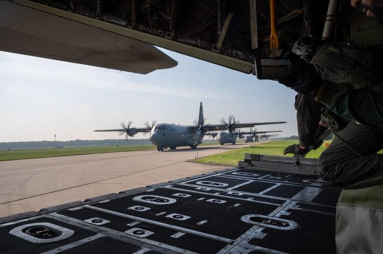 U.S. Airmen jump alongside NATO partners during Falcon Leap 21