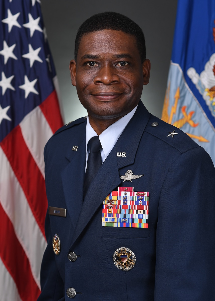 This is the official portrait of Brig. Gen. Terrence A. Adams.