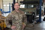 U.S. Air Force Tech. Sgt. Victor Carter is a vehicle mechanic for the 167th Logistics Readiness Squadron and the 167th Airlift Wing Airman Spotlight for September 2021. (U.S. Air National Guard photo by Senior Master Sgt. Emily Beightol-Deyerle)